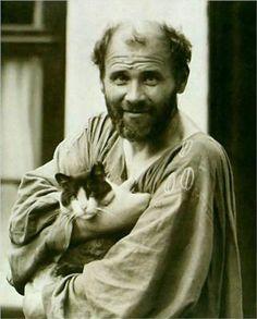 Klimt and his cat, Katze