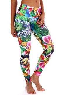 72b653a2bf Butterfly Garden Legging Colorful Leggings, Workout Pants, Yoga Pants,  Pajama Pants, Butterfly