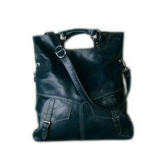 Turquoise / teal blue / leather handbag / shoulder bag / Brook Larger version