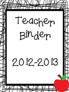 Mrs. Wheeler's First Grade Tidbits: Teacher Binder Freebie!