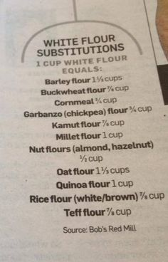 White flour substitutions