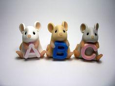 Alphabet Mice by Quernus crafts