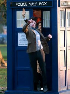 David Tennant in places he shouldn't be. 'GET OUT OF MY TARDIS MATT!'