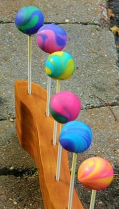 Tie Dye Cake Pop Idea!