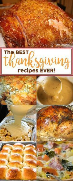 The BEST Thanksgiving recipes EVER! The best recipes for Thanksgiving turkey and stuffing, pumpkin pie, mashed potatoes, gravy, and tips to help you along the way.