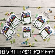 """""""Team work makes the dream work!"""" Students will love using their listening, reading and french speaking skills to complete this french vocabulary game as a team! Add a timer for an added challenge! French: I Have, Who Has? Card Game {J'ai...Qui a?} Details:► Engaging """"owl theme"""" design► 6 Pages ‣ ... Communicative Competence, Language Immersion, Language Proficiency, French Resources, Vocabulary Games, French Words, Teaching French, Student Work, Fun Learning"""