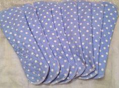 Blue polkadot day clothpad, Leonora