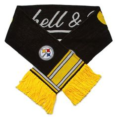 NFL Mitchell  Ness Pittsburgh Steelers BlackGold Vintage NFL Scarf *** Check out this great product.