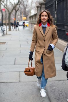 Similar coat in my closet. So Cool It Hurts: New York Fashion Week Street Style