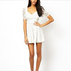 Delicate Square Collar High Waist Short Sleeve Lace Dresses: http://www.jollychic.com/p/delicate-square-collar-high-waist-short-sleeve-lace-dresses-g19936.html