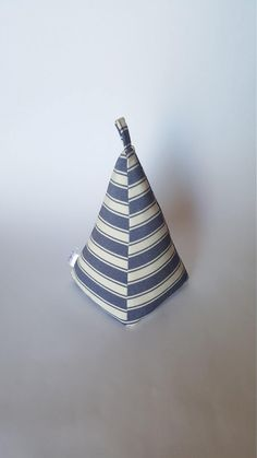 Excited to share the latest addition to my #etsy shop: Fabric Doorstop, Pyramid Shaped, Nautical Navy Blue and White Striped Door Stopper https://etsy.me/2Il74WW #housewares #homedecor #blue #housewarming #white #entryway #navy #sailor #ship