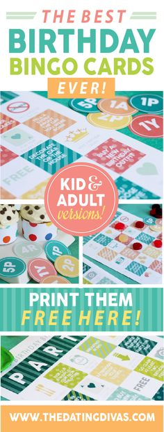 This is the perfect birthday gift idea! A birthday bingo card with fun ideas and activities on each square. Totally going to use this one- I love how there is an adult AND kid's birthday bingo card!