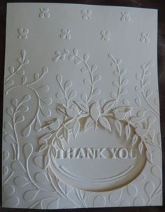 by Cara Beck  a Thank You  sweet and simple and great for mailing since it is flat