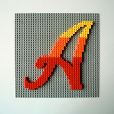"""Analog """"A"""" in Lego Typography fun! The letter A from Lego! Analog """"A"""" in Lego Typography fun! The letter A from Lego! Legos, Deco Lego, Lego Letters, Wooden Letters, Lego Decorations, Schrift Design, Lego Mosaic, Lego Wall, Lego Craft"""