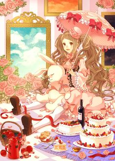 fancy cake anime - Buscar con Google