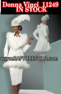 Dress to impress, Donna vinci 11249 is now in stock. Order your today. Church Clothes, Church Dresses, Church Outfits, First Lady Church Suits, Women Church Suits, Usher Suits, Summer Lily, Dress To Impress, Knits