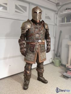 Perfect Cosplay Detail of Heavy Dawnguard Armor