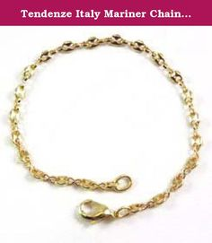 """Tendenze Italy Mariner Chain Bracelet, Gold Double 10/000, 3.7mm, Length 17cm/6.7"""", Directly From The Italian Factory. Mariner Chain Bracelet, gold double 10/000, 6 x diamand cut, high gloss finished, the original italian Mariner chain, protected against tarnish finest jeweller quality In contrast to normal gold-plated jewelry is gold double 10/000 a double-metal, with a thick and inseparably welded gold to a metal surface (brass), so that both metals are inseparably connected with each..."""