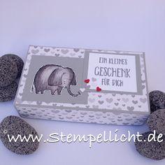 Schachtel mit Elefant aus Love You Lots und Designerpapier Ausgefuchst.