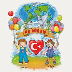 23 Nisan ba ms zl k Ba ms zl k 23 Nisan d r Art For Kids, Crafts For Kids, Art Bulletin Boards, Turkey Holidays, Good Environment, National Holidays, Beautiful Gif, Child Day, Painting Lessons