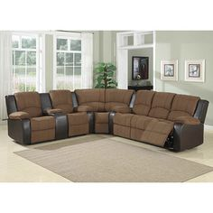 @Overstock - Make your living room more comfortable with this impressive sectional sofa.  The soft padded suede in a beautiful mocha shade will make this sitting-piece a centerpiece in your home.  http://www.overstock.com/Home-Garden/Peter-3-Piece-Sectional/6427972/product.html?CID=214117 $1,409.99