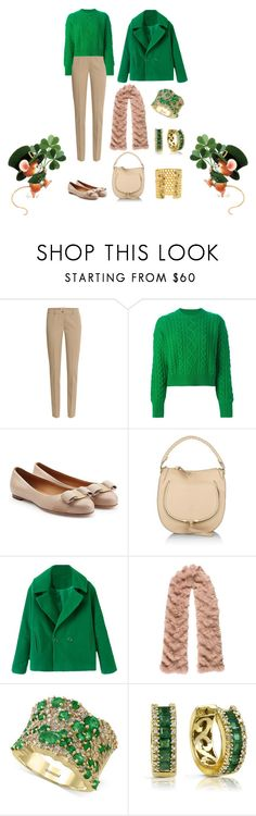 """The Luck of the Irish"" by karen-galves on Polyvore featuring Michael Kors, Étoile Isabel Marant, Salvatore Ferragamo, Chloé, Byte by Giuliana Teso, Effy Jewelry, LARA MELCHIOR, women's clothing, women's fashion and women"
