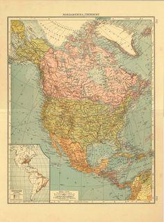 North America United States Mexico Cuba New Spain Mexico - North america historical map 1845