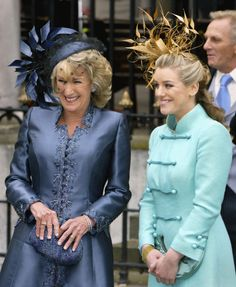 Wedding guests at Charles and Camilla's wedding included Camilla's sister Annabel Shand and daughter Laura Parker Bowles.