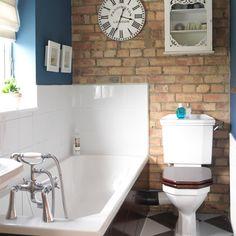 Exposed brick bathroom   Bathroom decorating ideas   PHOTO GALLERY   Housetohome.co.uk
