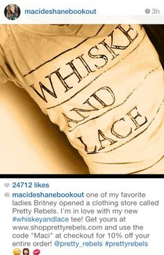Maci Bookout loves Pretty Rebels too! www.shopprettyrebels.com