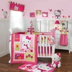 Are you a Hello Kitty fan? If so, you'll love these adorable Hello Kitty bedroom decoration! 25 cute bedroom designs for Hello Kitty fanatics. Girls Bedroom, Baby Bedroom Sets, Girl Crib Bedding Sets, Cat Bedroom, Bedroom Ideas, Girl Nursery, Bedroom Decor, Bedroom Furniture, Nursery Ideas