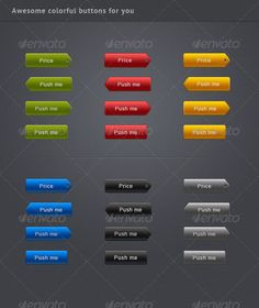 Awesome colorful buttons for your site, blog, or internet-shop. All buttons are in vector! You can change size!