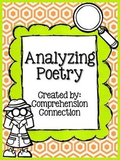 Analyzing Poetry Freebie Freebie: This poetry page can be used to help your students with analyzing poems that you choose. It is intended for upper elementary students working in pairs, in guided reading groups, or independently. Third Grade Writing, 4th Grade Reading, Guided Reading, Reading Groups, Poetry Unit, Writing Poetry, Essay Writing, Reading Lesson Plans, Poetry For Kids