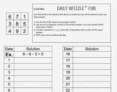 Math = Love: Witzzle Pro Math Game