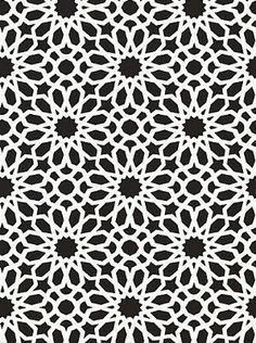 DecoratorsBest - Detail1 - Sch 5006642 - Agadir Screen - Noir - Wallpaper - Fabrics - DecoratorsBest
