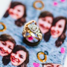 Personalized socks, what a fun way to commemorate your special day! We love these fun brides and not to mention their beautiful rings! Megan Morales photography.