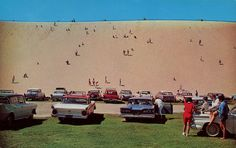 Dune Climbing Is A Real Thrill, sleeping Bear Dune, Michigan...the struggle to get to the lake over these is real