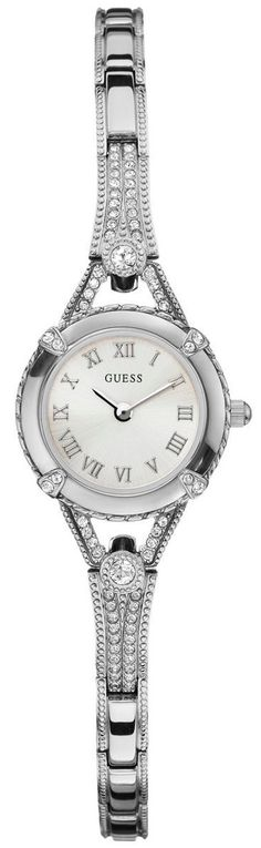 #Guess #Watch , GUESS Women's Silver-Tone Petite Crystal Watch...$67.90