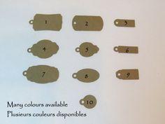 Étiquettes à bijoux, étiquettes à bracelets, étiquettes à colliers, étiquettes à…
