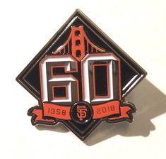 2b8fa98c65f San Francisco SF Giants 60th Anniversary Pin 1958-2018 Giants Baseball