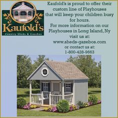 Play Houses, Kids Playing, Gazebo, Shed, Cabin, Country, House Styles, Home Decor, Kiosk