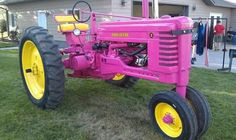 Deere fan Cynthia S. plans to use this restored HOT PINK 1949 Model B to call attention to the need for increased women's cancer research. Description from pinterest.com. I searched for this on bing.com/images