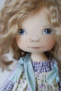 Купить Цветочная Гномочка в сиреневом - бледно-сиреневый, коллекционная кукла, малышка, гном, подарок девушке