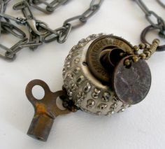 Pendent Necklace with Vintage IBM Type Ball 52.00 by SouleArt
