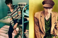Benoni Loos, Charlie Timms and Sebastian Sauvé shot by Thomas Cooksey and styled by Dean Hau for the issue #5 of 7th Man.