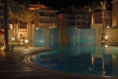 - Main swimming pool by night