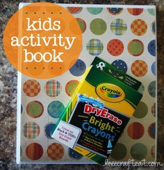 this is such a fun idea for a kids school workbook or activity book - they can use it anywhere...church, doctor's visits, traveling.... and the best part is it used dry-erase crayons, so it can be used over and over and over again!