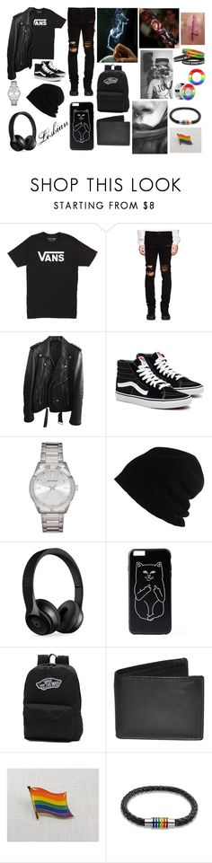 """""""Role Play LGBTQ"""" by lukehemmogirl1996 ❤ liked on Polyvore featuring beauty, Vans, RtA, BLK DNM, SCHA, Beats by Dr. Dre, Hot Topic, Dopp and Bling Jewelry"""