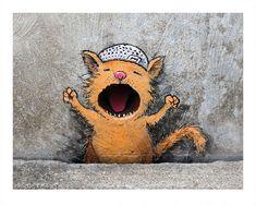 Street Art Graffiti Creativity Cities Ideas For 2019 Street Art Love, Amazing Street Art, Street Art Graffiti, Graffiti Artists, Awesome Art, David Zinn, Fantasy Kunst Krieger, Illusion Kunst, Art Room Posters