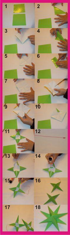 Estrellas 3D de papel | Aprender manualidades es facilisimo.com
